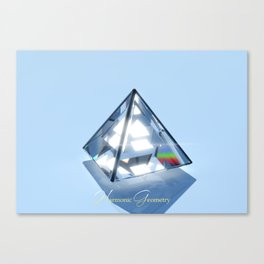 Sacred Geometry - Tetrahedron Canvas Print