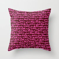 lv Throw Pillows featuring LV by anhnt32