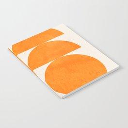 Geometric Shapes orange mid century Notebook