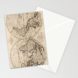Old Fashioned World Map (1795) Stationery Cards