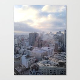 Looking Through Glass Canvas Print