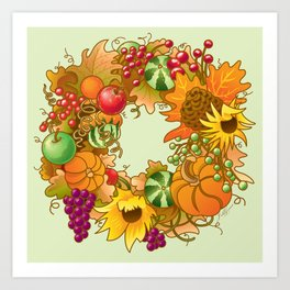 Fall Wreath Art Print