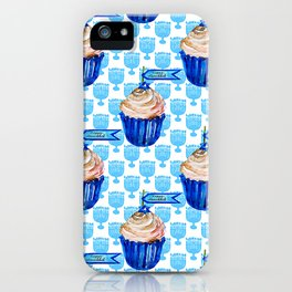 Happy Hanukkah Banner Cupcakes From Bubbie iPhone Case