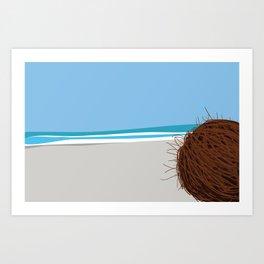 Coconut's view Art Print