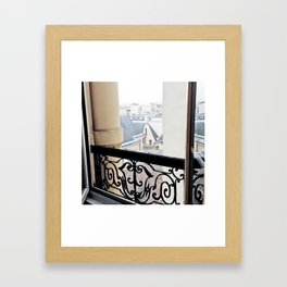 View Out My Parisian Window Framed Art Print