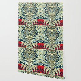 Rubino Zen Owl Blue Wallpaper