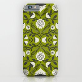 Emma Floral - Green iPhone Case