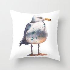 Seagull print Throw Pillow