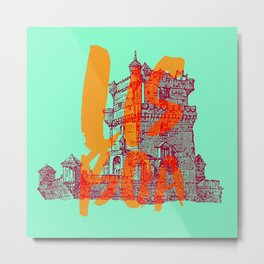 Place: Lisboa Metal Print