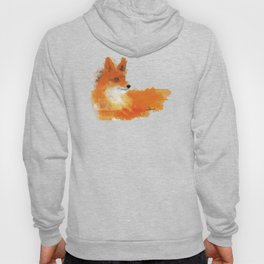Fox in a watercolour style illustration Hoody