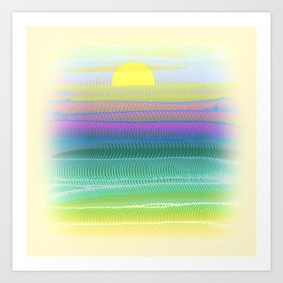 Sun Summer Art Print