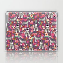 Schnauzer floral dog breed must have gifts for schnauzers Laptop & iPad Skin