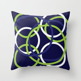 Blue, green, and white bangles Throw Pillow