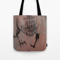 bane Tote Bags featuring Bane, by Laura Hodgson