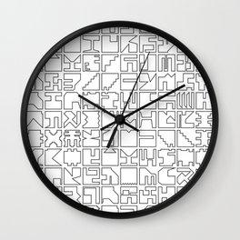 Printed Pixels Wall Clock