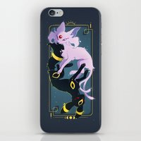 umbreon iPhone & iPod Skins featuring day and night by Leonie X. Li
