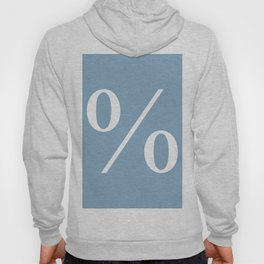 percent sign on placid blue color background Hoody