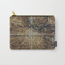 Vintage Old World Abstract Map Carry-All Pouch