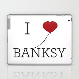 I heart Banksy Laptop & iPad Skin