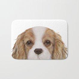 Cavalier King Charles Spaniel Dog illustration original painting print Bath Mat