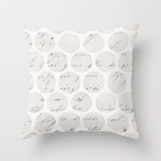 Vintage Looking Throw Pillows : vintage polka dots Throw Pillow by Her Art Society6