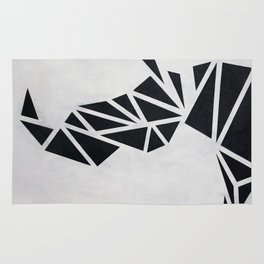 Geo Rhino (oil painting) Rug