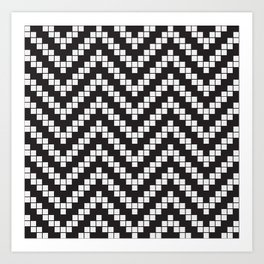 Herringbone Weave Seamless Pattern. Art Print