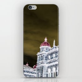 inverted parliment building iPhone Skin