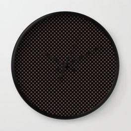 Black and Desert Palm Polka Dots Wall Clock
