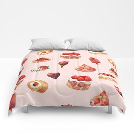Red Desserts Comforters