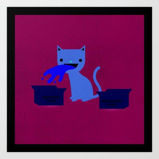 My Cat is a Dick Art Print