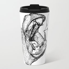 Hippos need love Travel Mug