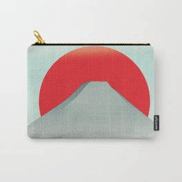 Japan mountain vintage style travel poster Carry-All Pouch