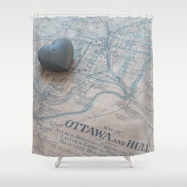 In the heart of a place Shower Curtain
