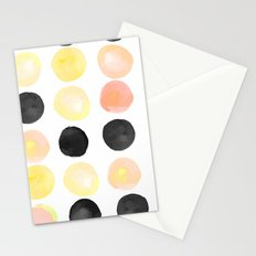 Peach + Coal Dots Stationery Cards