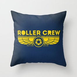 Roller Crew Throw Pillow