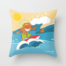 Non Olympic Sports: Surfing Throw Pillow