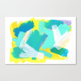 Be Kind, Be OK - mint modern mint abstract painting pastel colors Canvas Print