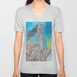 On the mountain top Unisex V-Neck