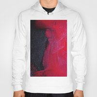 oil Hoodies featuring Red oil by Margheritta