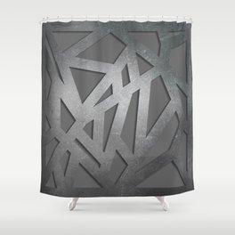Metal Engraved Geometric pattern Shower Curtain