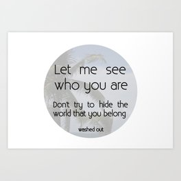 Belong Art Print