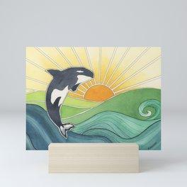 Westcoast Orca Mini Art Print