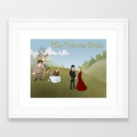 princess bride Framed Art Prints featuring The Princess Bride by Joseph  Griffin Art