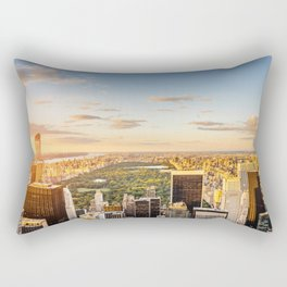 Central park at sunset - aerial view Rectangular Pillow
