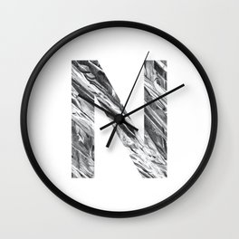 The Letter N- Stone Texture Wall Clock