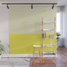 Triangles yellow Wall Mural