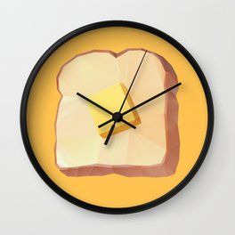 Toast with Butter polygon art Wall Clock