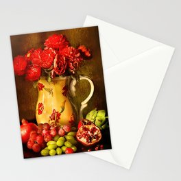 Flower and fruit Stationery Cards