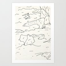 lake rocks Art Print